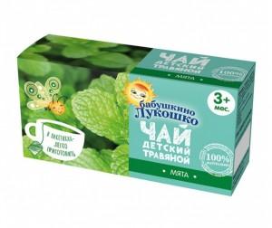 Чай бабушкино лукошко с мятой