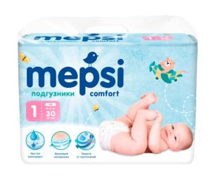 Mepsi Детские одноразовые подгузники размер NB 0-6 кг 30 шт ... f3c2597f6b3