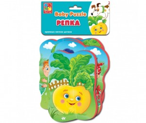 Vladi toys Пазлы мягкие Baby puzzle Сказки Репка