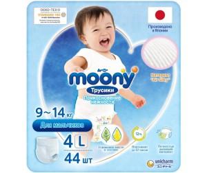Moony Подгузники-трусики для мальчиков L (9-14 кг) 44 шт ... ebbed7f09c8