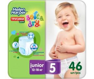 Helen Harper Трусики-подгузники Soft Dry junior (12-18 кг) 46 шт ... 93ddd4e3f5e