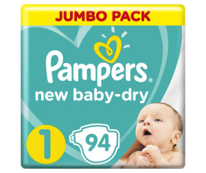 Pampers Подгузники New Baby-Dry р.1 (2-5 кг) 94 шт.