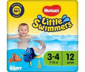 Huggies Трусики-подгузники для плавания 3-4 (7-15 кг) 12 шт ... 255e3b60e7a