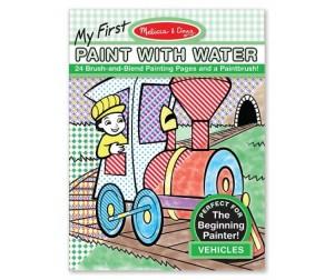 Раскраска Melissa & Doug Мои первые водные раскраски транспорт