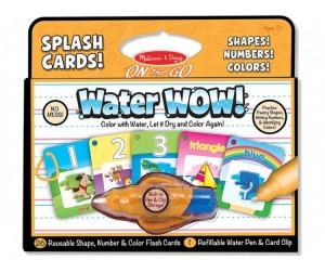 Раскраска Melissa & Doug Раскрась водой карточки, формы, числа и цвета