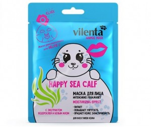 Vilenta Маска для лица Animal Mask Happy Sea Sea Calf увлажняющая 28 мл