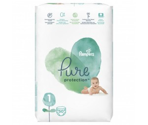 Pampers Подгузники Pure Protection р.1 (2-5 кг) 50 шт.