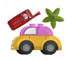 2c8379284d18 Конструктор Dr.Luck для маленьких Розовая машинка (10 деталей ...