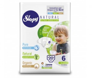 Sleepy Natural Подгузники XL (15-25 кг) 20 шт.