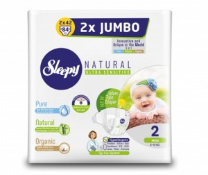 Sleepy Natural Подгузники Mini (3-6 кг) 84 шт.