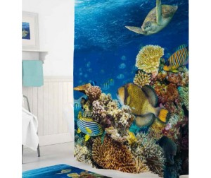 Tropikhome Шторы для ванн полиэстер Digital Printed Aquarium 180х200 см