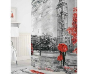 Tropikhome Шторы для ванн полиэстер Digital Printed Big Ben 180х200 см