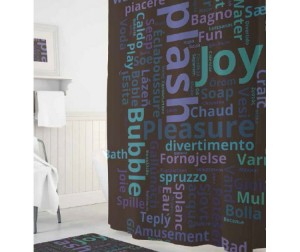 Tropikhome Шторы для ванн полиэстер Digital Printed Splash 180х200 см