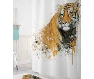 Tropikhome Шторы для ванн полиэстер Digital Printed Tiger 180х200 см