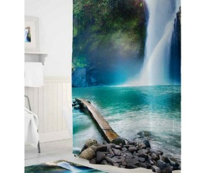 Tropikhome Шторы для ванн полиэстер Digital Printed Waterfall 180х200 см
