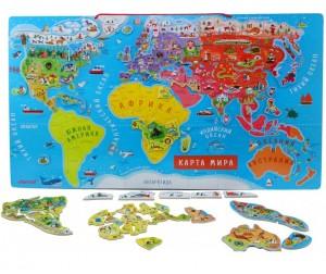 Janod Карта мира с магнитными пазлами (русский