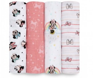 Пеленка Aden&Anais муслиновая Minnie rainbows Essentials 112х112 см 4 шт.